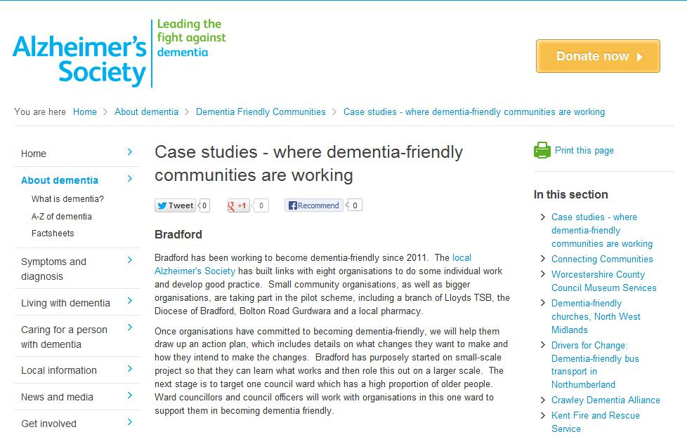 case study alzheimers Case study describes how bioclinica's patient recruitment and retention division solved one client's challenge of recruiting and retaining patients for a global study investigating a potential new treatment for alzheimer's disease.