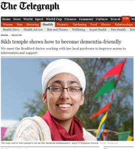 Sikh Temple shows how to become dementia friendly